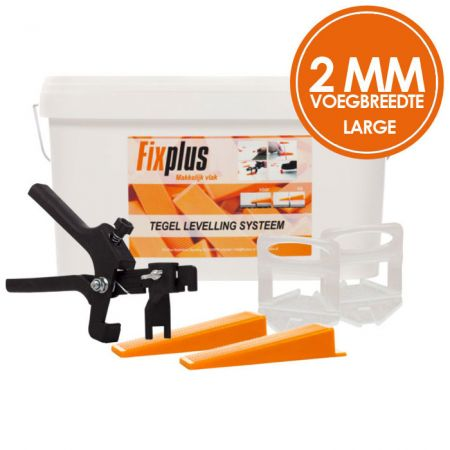 Fix Plus Levelling Systeem 2mm Large XL Kit