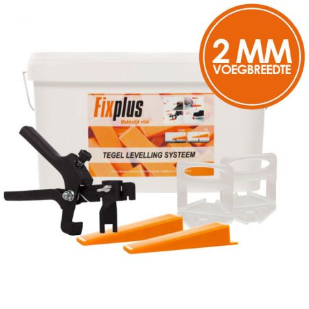 Fix Plus Levelling Systeem 2mm Kit XL