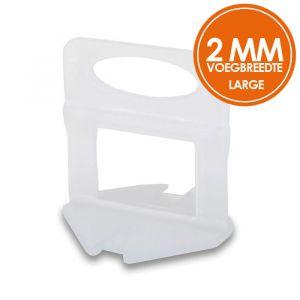Fix Plus Levelling Clips 3000 stuks 2 mm Large