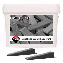 Rubi Delta Levelling Tegel Keggen 500 stuks in emmer