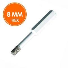 Carat Tegelboor 8mm Droog HEX
